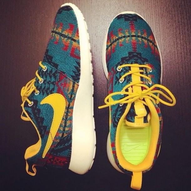 Tribal Nike Tennis Shoes