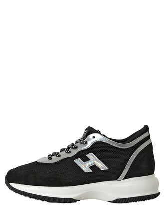 iridescent sneakers leather suede silver black shoes