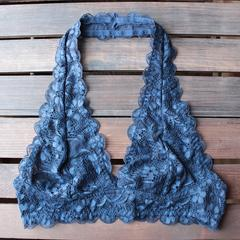 intimate semi-sheer halter lace bralette (7 colors)