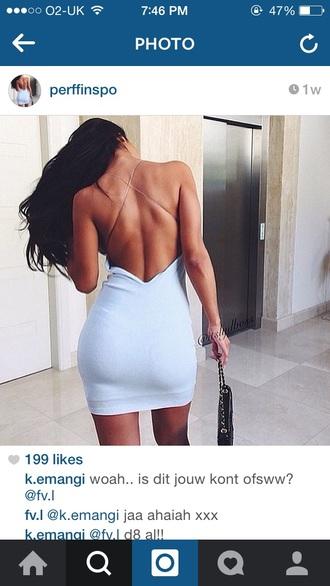 dress backless cream dress