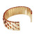 Gold Reptilian Scale Inspired Open Back Cuff Bracelet | Simple Fashion Designs | Trendy Contemporary Clothing | J.SIMPLE