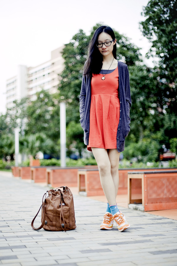 pupuren dress cardigan socks shoes bag jewels