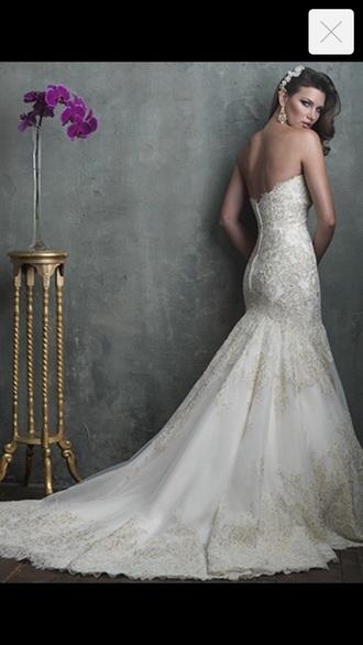 dress ivory dress white wedding dress beautiful gown