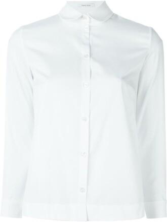 shirt collar shirt white top