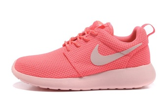 shoes nike roshe run pink shoes