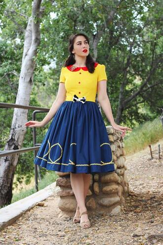 southerncaliforniabelle blogger dress shoes make-up vintage dress retro spring outfits