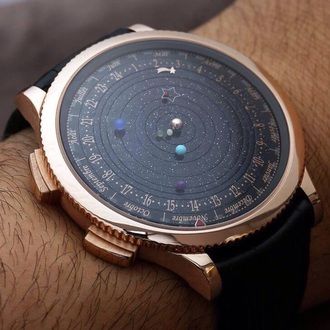 jewels watch space stars planets clock watch time
