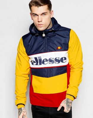 best supplier clients first soft and light Ellesse Overhead Jacket With Large Logo at asos.com