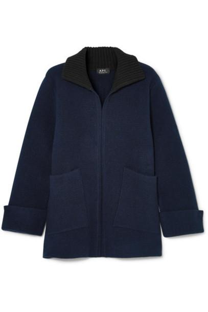 A.P.C. Atelier de Production et de Création sweater wool sweater navy wool