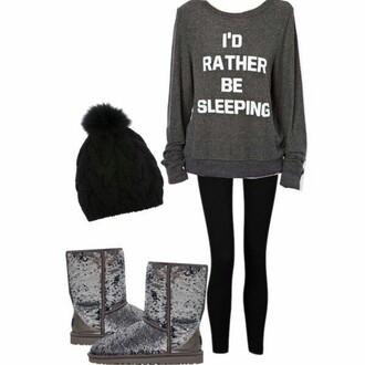 jacket i'd rather be sleeping gray sweatshirt graphic sweatshirt