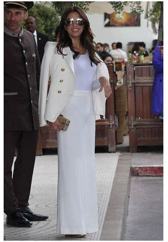jacket blazer suit wide-leg pants eva longoria cannes