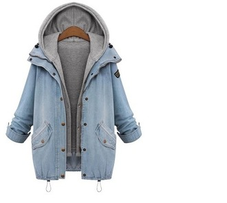 jacket girl blue denim denim jacket hoodie grey hoodie grey