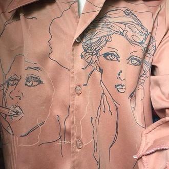 blouse shirt animal face print pink cool tumblr jewels fashion tumblr outfit t-shirt black dress minimalist necklace