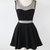 Charming Short Little Black Dress With Mesh Insert 1318441 on Luulla