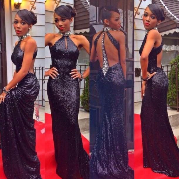 Tight black dresses for prom