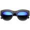 Blue thunder matte revo mirror sunglasses | flyjane