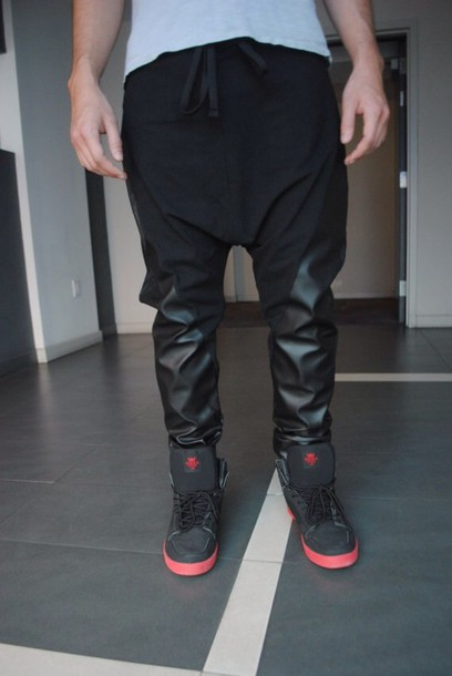 Popular Mens Black Leather PantsBuy Cheap Mens Black