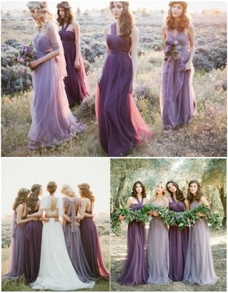 dress bridesmaid purple