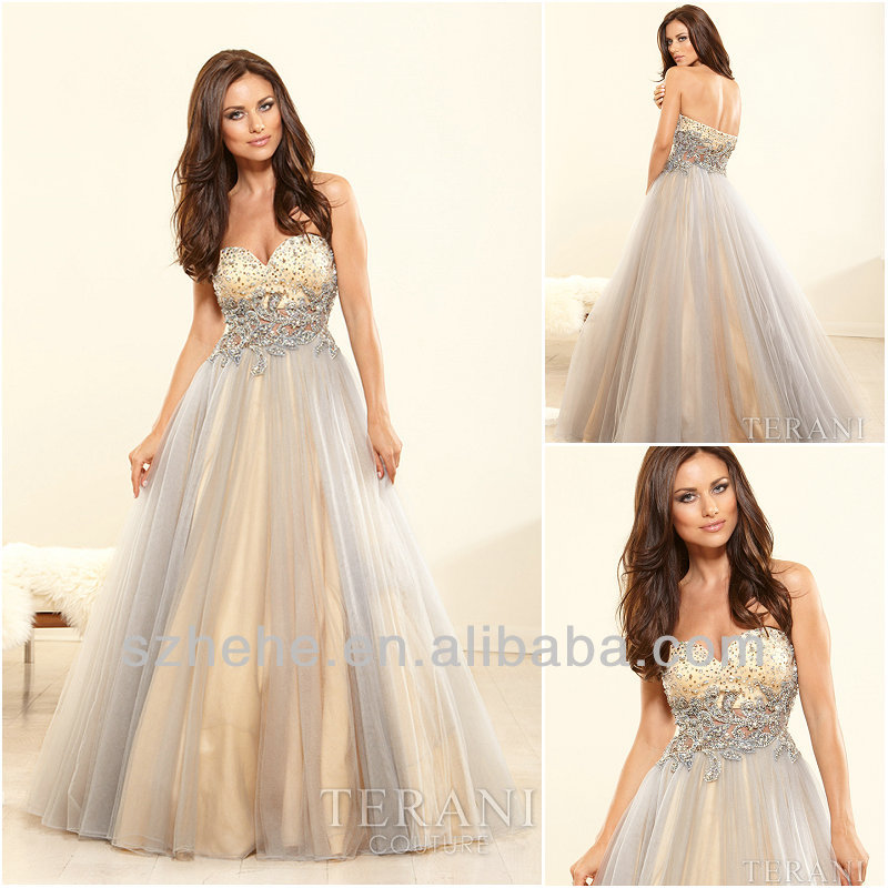 Free Shipping!!! CY1395 Vogue Ball gown Tulle Beaded rhinestones prom dresses-in Prom Dresses from Apparel & Accessories on Aliexpress.com