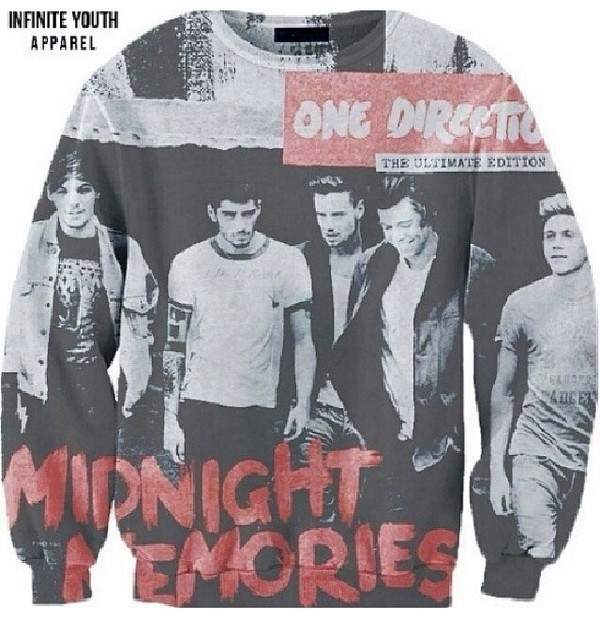 sweater one direction sweater midnight memories print