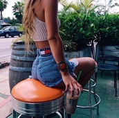 tank top,beige,High waisted shorts,blouse,jeans,outfit,outifit idea,swimwear,jewels,jewelry,shorts,pants,blue dress,tommy hilfiger,top,summer,summer outfits,style,fashion,blonde hair,starbucks coffee,stars,beige dress,crop tops,crop,tommy hilfiger jeans shortt,nude top