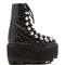 Sam high-shine croc embossed leather boot by alexander wang - moda operandi