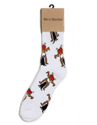 40s & Shorties - White Twerk Socks - 40s & Shorties, Socks, Accessories - KNYEW Clothing Boutique