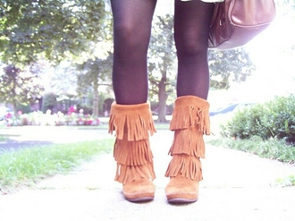 shoes fringe boots native