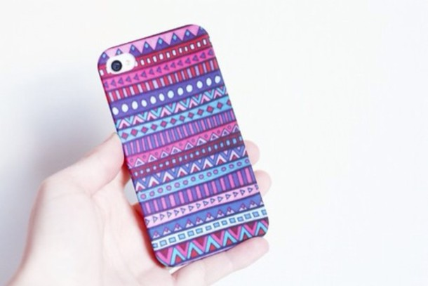 jewels iphone iphone 4s aztec pretty accessories red blue pink
