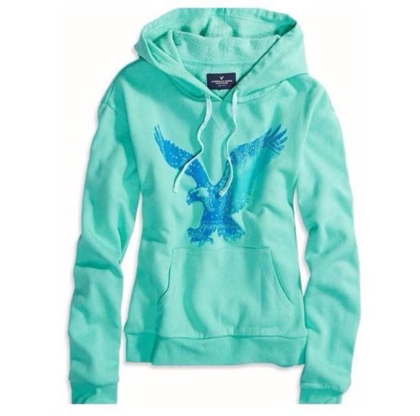 jacket hoodie colorful american eagle
