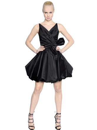 dress bow silk black
