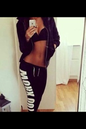 pants,workout,joggers,black,girly