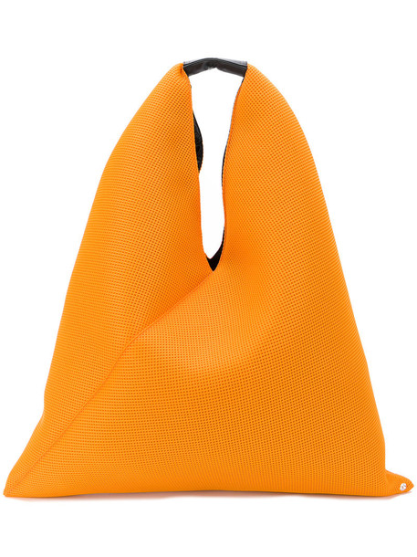 Mm6 Maison Margiela women bag tote bag leather yellow orange