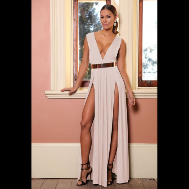 dress sexy dress prom dress white dress slit dress maxi dress