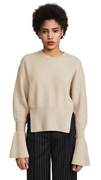Alexander Wang pullover champagne sweater