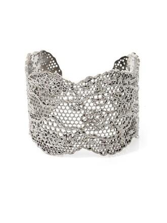 cuff vintage lace silver jewels