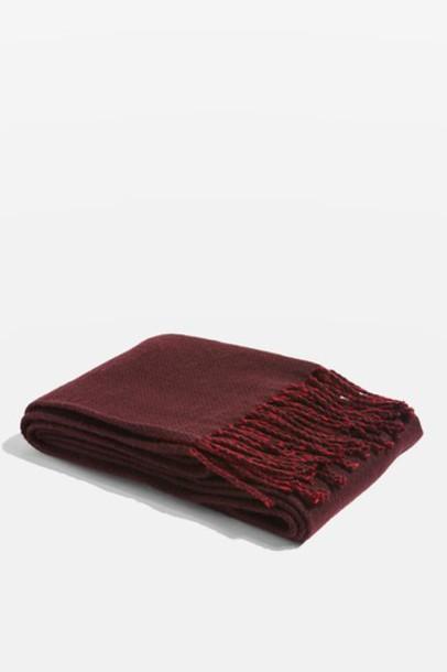 Topshop scarf burgundy
