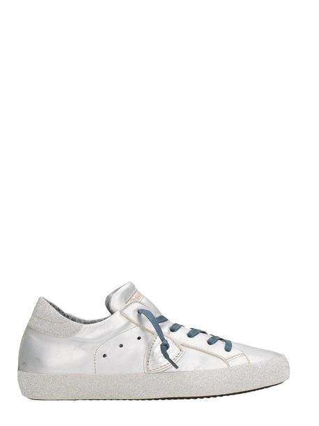 Philippe Model paris sneakers silver shoes