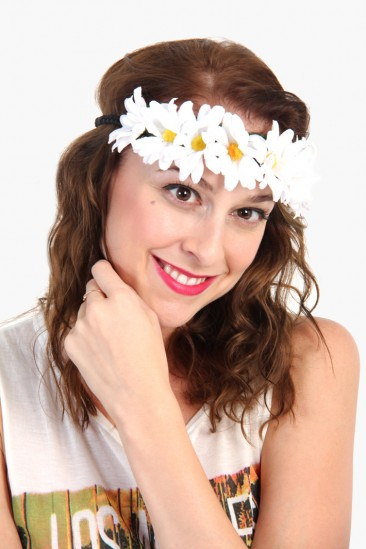 OMG Daisy Flower Band - White