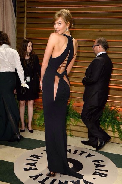 dress karlie kloss black sexy
