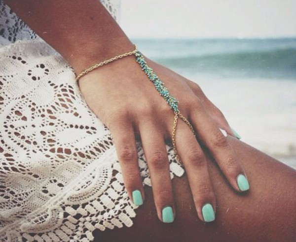 jewels braclet jewelry nail polish