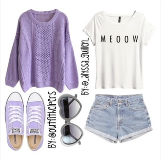 purple sweater idk hot tumblr sweater shoes t-shirt