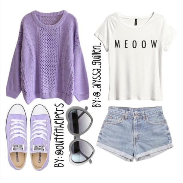 Purple Tumblr Purple Sweater Idk Hot Tumblr
