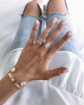 jewels tumblr jewelry ring gold ring bracelets gold bracelet