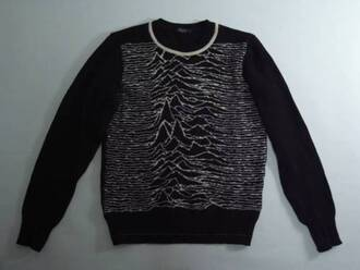 jumper waves joy division black jacket jacket