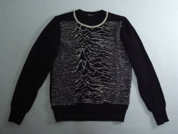 jumper waves joy division black jacket white jacket