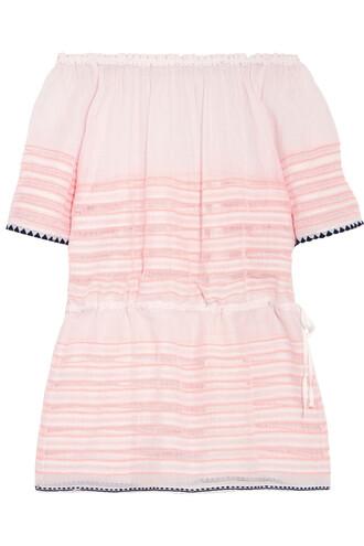 dress mini dress mini cotton peach