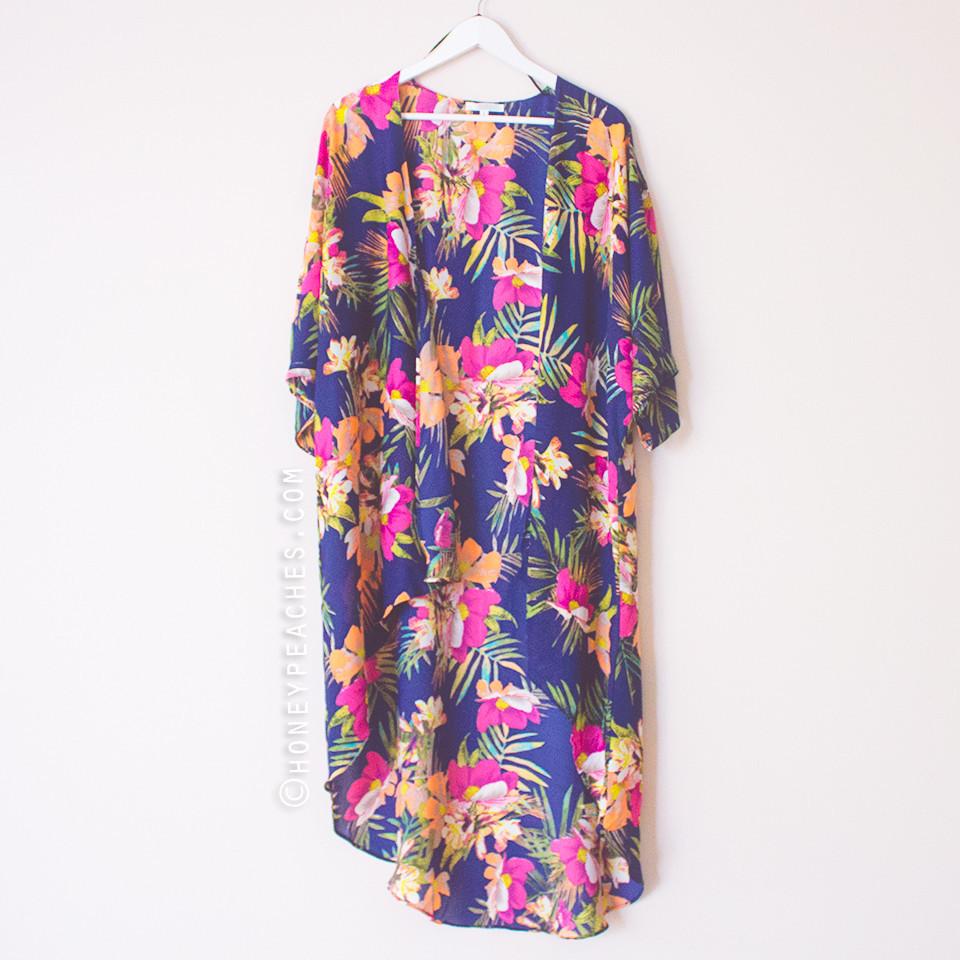Floral bliss kimono cardigan
