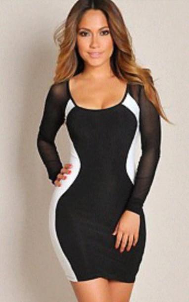 69a83f053ce8 black and white dress mini dress black and white sexy dress bodycon dress  bodycon optical illusion