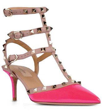 shoes pumps rockstud low heels valentino